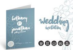 Wedding Invitation Flowers by @Graphicsauthor
