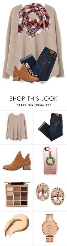 """""""Look in items to see my Christmas tree!!❤️"""" by hgw8503 ❤ liked on Polyvore featuring MANGO, American Eagle Outfitters, Casetify, Stila, Bobbi Brown Cosmetics and Nixon"""
