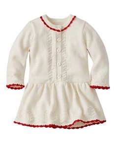 Baby Cozy Cotton & Cashmere Sweater Dress from #HannaAndersson.