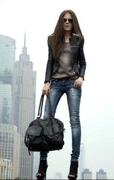 Oh Yeah.. I can't wait to Rock this Look!!......Sexy jeans, cropped jacket and…