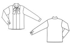 Блузка - выкройка № 128 A из журнала 10/2011 Burda – выкройки блузок на Burdastyle.ru