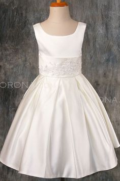 First Communion dress - Libby likes wants a thinner strap.  Likes cumber bun