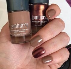 Waltz and Coffee Shop Jamberry Nail Lacquers. Free of the top 5 toxins found in most polishes. https://sarahssweetjams.jamberry.com