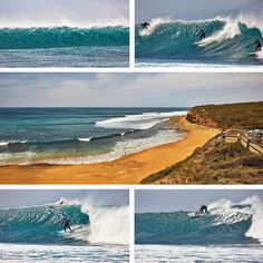 This was Bells yesterday at noon just before the SW change came through. by surfcoastimages http://ift.tt/1KnoFsa