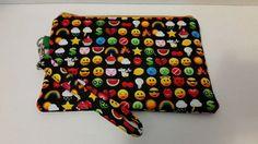 Emoji wristlet coin purse zipper pouch by DesignsbyCristal on Etsy