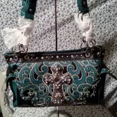 MONTANA WEST Turquoise Cowgirl Concealed Weapons Purse