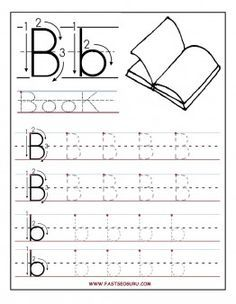 Printable Letter B Tracing Worksheets For Preschool   Printable Coloring  Pages For Kids