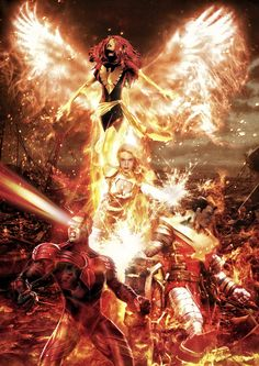 X-men - The Phoenix Force by tomzj1.deviantart.com on @deviantART