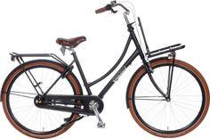 Popal Daily Dutch Prestige 28 pouces Femme Frein à rétropédalage Noir mat Bicycle Stand, Bicycle Bell, Bikes For Sale, Black Wheels, Cycling Gear, The Prestige, Matte Black, Touring