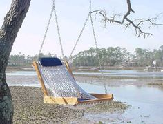 Outer Banks Single Rope Porch Swing at HammocksBuy.com