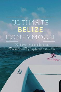 Honeymoon in Belize - Will Daytrip For Donuts