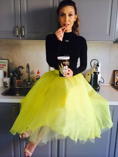 Sore Mihalache wearing Parlor! #parlor #kitchen #yellow