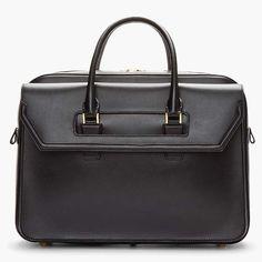 Alexander Mcqueen Black Leather Briefcase