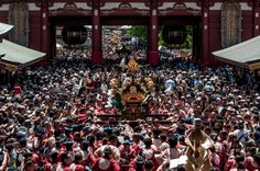 Asakusa Sanja Matsuri 16/28 A shot from Sensoji that conveys, perhaps, the size of the crowds -and there are more and more omikoshi coming up Nakamise Dori/Street! #Asakusa, #Sanja, #Matsuri, #omikoshi, #Sensoji Taken on May 17, 2014. © Grigoris A. Miliaresis