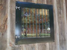 Horse Barn window - Dutch Window Silver Series with Bars and Tempered Glass PAINTED System Fencing