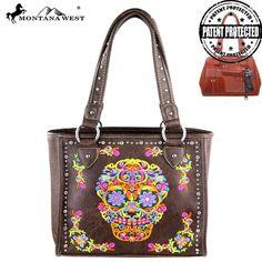 Montana West Sugar Skull Collection Concealed Tote – Handbag-Addict.com