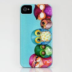 Fabric Owl Family iPhone Case by Annya Kai - $35.00