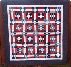 Ohio Stars and Rails Quilt - Drape over the back of the couch for federal holidays (and, of course, the entire month of July). Very #Americana