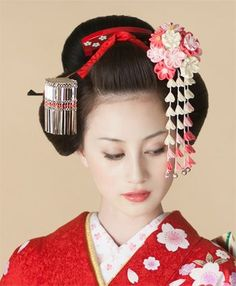 Beauty Makeup, Hair Makeup, Japan Woman, Japanese Characters, Kanzashi Flowers, Ribbon Art, Maquillage Halloween, Japanese Beauty, Japanese Culture