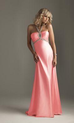 Embellished Keyhole Neckline Floor Length Sweetheart Empire Pink Prom Dress