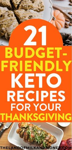 Try these 21 cheap keto Thanksgiving recipes to create a simple, delicious, low-carb dinner menu plan while sticking to a budget this fall holiday season. Keto Foods, Keto Recipes, Healthy Recipes, Paleo Food, Healthy Eats, Healthy Foods, Budget Meal Planning, Cooking On A Budget, Frugal Meals