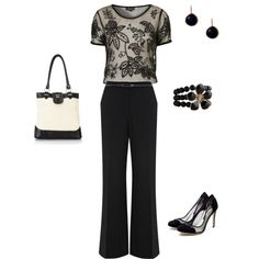 Black outfit that would be great for a new job.