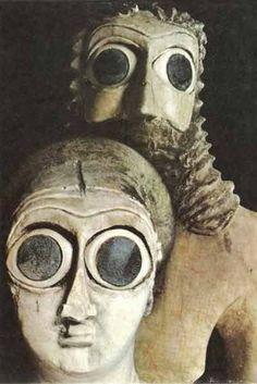 Weird ancient Sumerian statues.