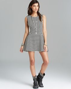 modaeelegancia: vestido de listra