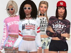 Available in 17 versions and colors  Found in TSR Category 'Sims 4 Female Athletic'