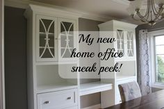 Home office makeover sneak peak!  It's not a dining room anymore!!