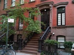 The red brick houses along Greenwich Village in New York City. Wish I have a flat there.