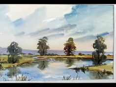 Watercoloring landscapes for beginners