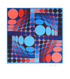 Original signed screenprint by Vasarely Victor Plus