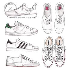 Good objects - #damndaniel ! Back at it again with the white kicks variations... #goodobjects #illustration