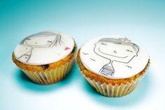 Cupcake art ~ Simply and purely - Love!  http://en.take-a-cake.eu/cupcake-art/valentine-elica-sarbinova.html