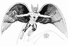 Hawkman commission by John Byrne. 2007.