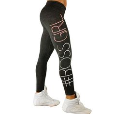Letter Print Sports Gym Running Fitness Leggings Athletic Trouser Fitness  Tights Workout Gym Running Pants 8debd05d093