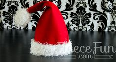 You can make a santa hat for each memeber of your family!  Free pdf pattern and video tutorial.