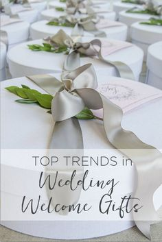 """""""TOP TRENDS IN WEDDING WELCOME GIFTS"""" Marigold & Grey creates artisan gifts for all occasions. Wedding welcome gifts. Workshop swag. Client gifts. Corporate event gifts. Bridesmaid gifts. Groomsmen Gifts. Holiday Gifts. Order online or inquire about custom gift design. http://www.marigoldgrey.com"""