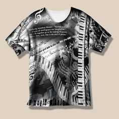 Piano Music Shirt Pianist Quotes Shirt Piano by JuleezGallery
