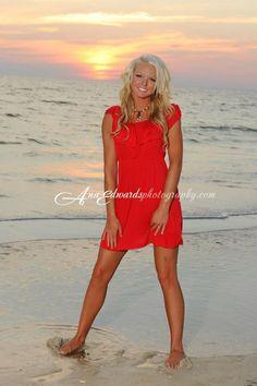 Beach portraits, sunset, panhandle, Gulf coast, beach session, photographer, Panama City Beach, Senior portraits, Individual