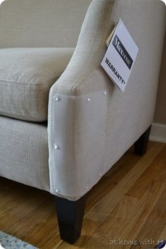 How to protect your couch corners from being a cat scratching post. I will be doing this for my next couch!