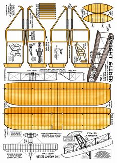Make your own Wright flyer Paper Airplane Models, Model Airplanes, Paper Models, Paper Planes, 3d Paper, Origami Paper, Paper Toys, Paper Crafts, Kirigami