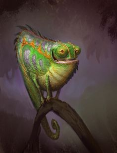 Chameleon by Artsammich.deviantart.com on @deviantART