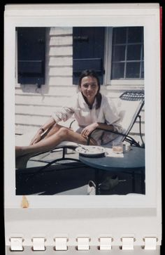 Lee Radziwill, Montauk.  Polaroid by Andy Warhol.