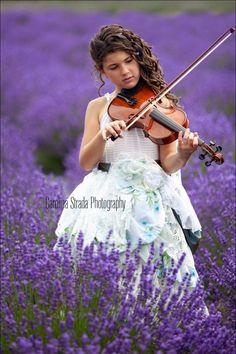 Lavender Field Portrait Session