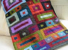 Great colors in the Squares Scarf by Kaffe Fassett  This scarf is quilt inspiration!