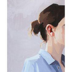 "8 x 10"" art de cheveux - chignon-impression -"" Bun 6"""
