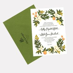 A Floral Invitation for a Spring Wedding