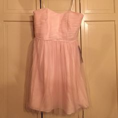 Light pink tulle dress Adorable pink tulle dress from the J.Crew bridesmaid line. Never worn. Tags still on! J. Crew Dresses